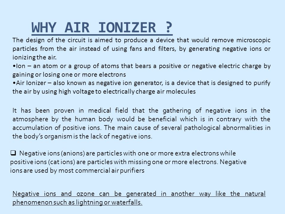 WHY AIR IONIZER