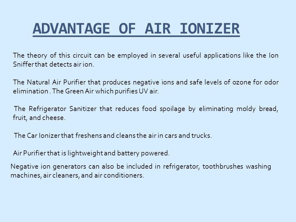 ADVANTAGE OF AIR IONIZER