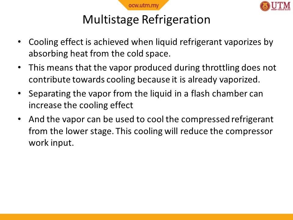 Multistage Refrigeration