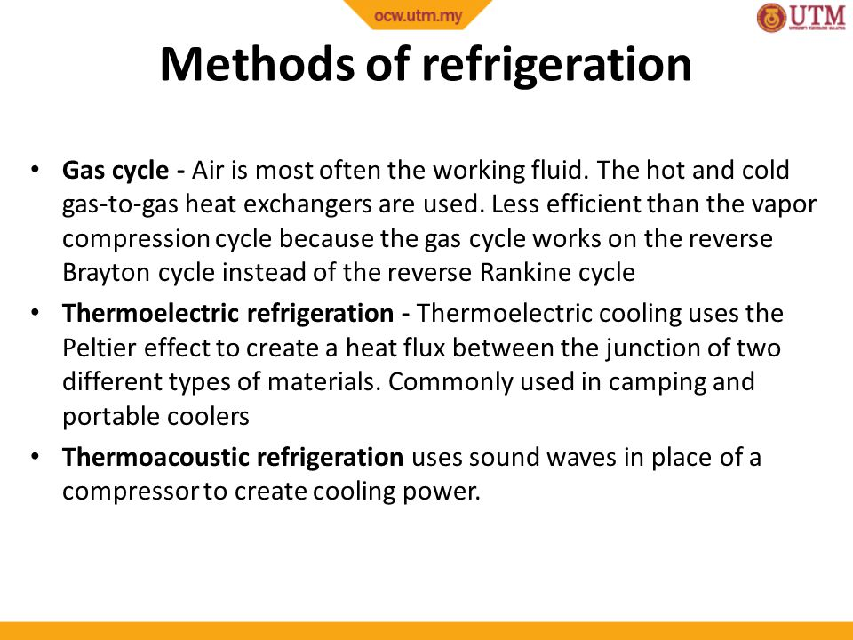 Methods of refrigeration