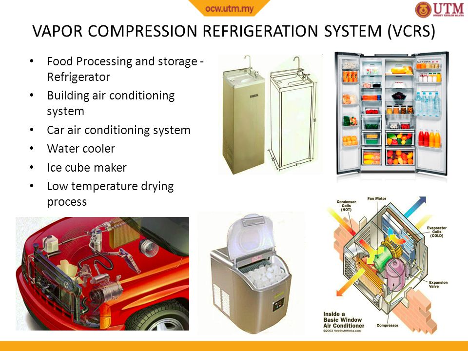 VAPOR COMPRESSION REFRIGERATION SYSTEM (VCRS)