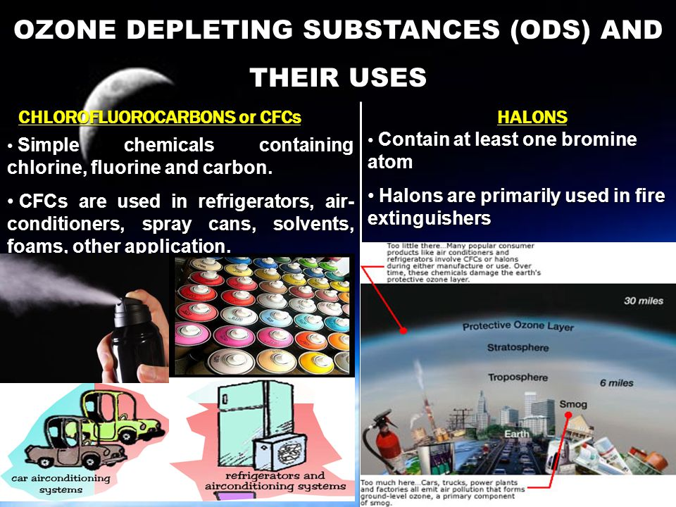 OZONE DEPLETING SUBSTANCES (ODS) AND THEIR USES