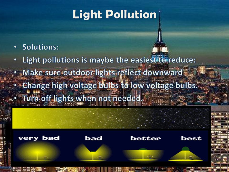Light Pollution Solutions: