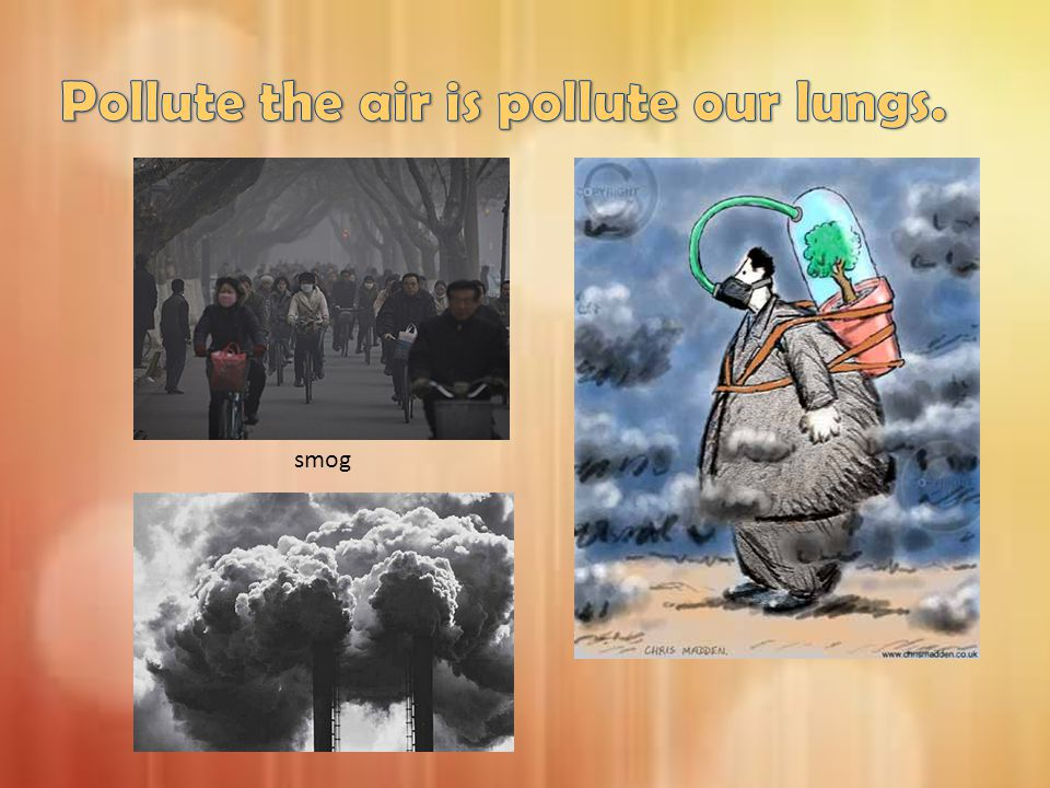 Pollute the air is pollute our lungs.