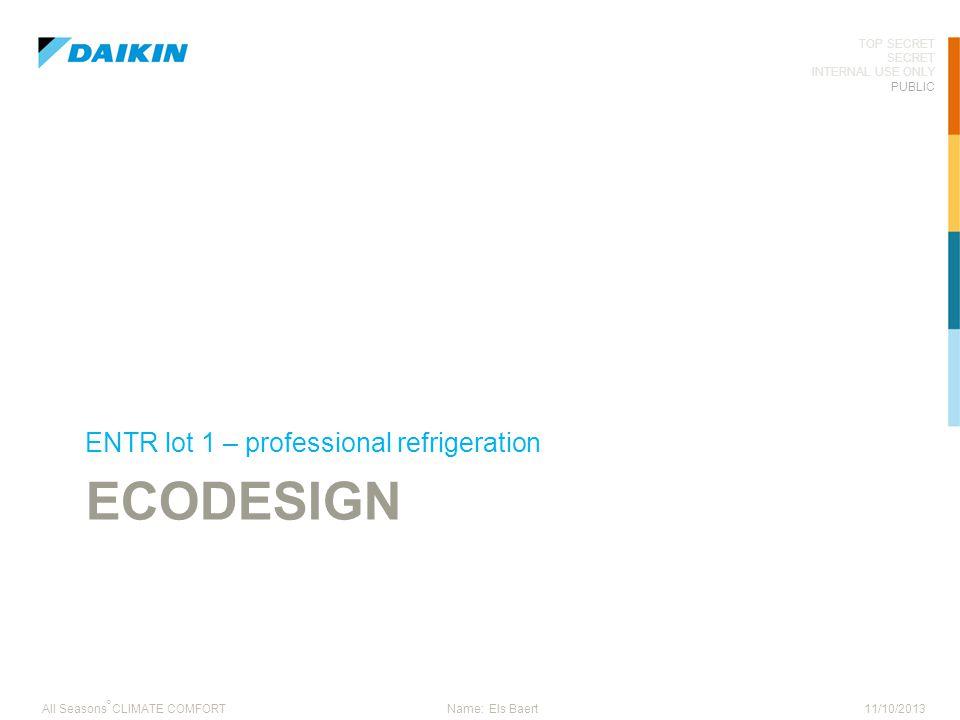 ENTR lot 1 – professional refrigeration