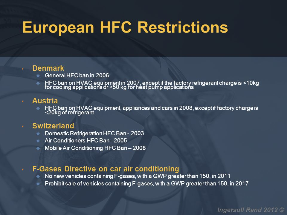 European HFC Restrictions