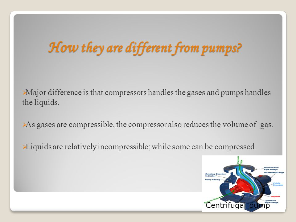 How they are different from pumps