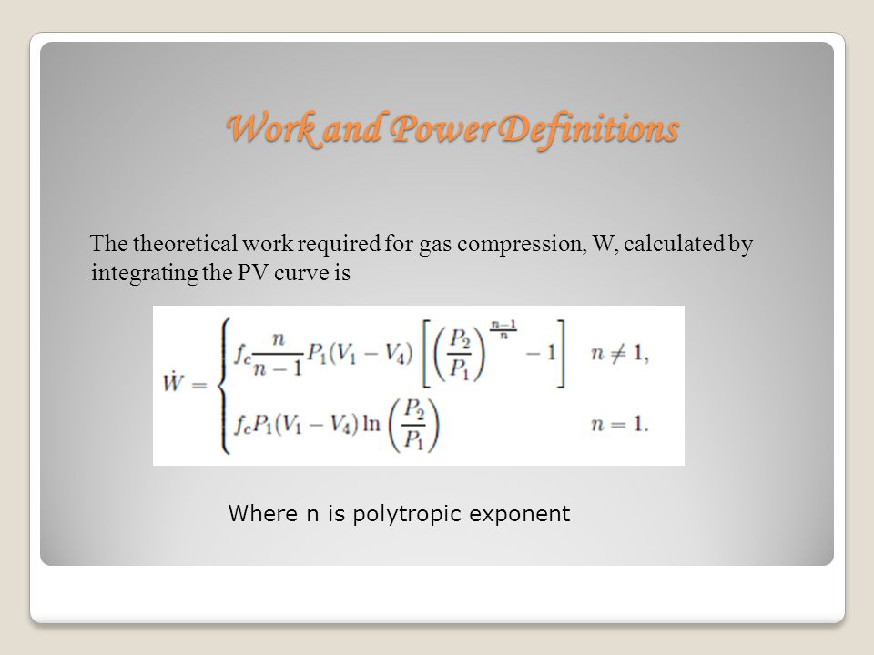 Work and Power Definitions