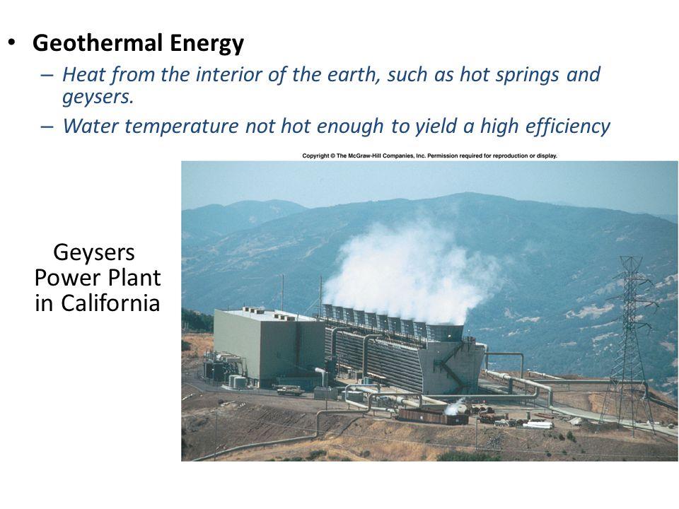 Geysers Power Plant in California