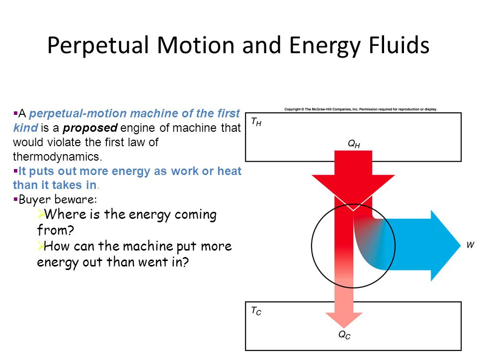 Perpetual Motion and Energy Fluids
