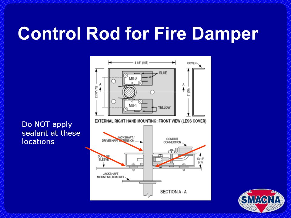 Control Rod for Fire Damper