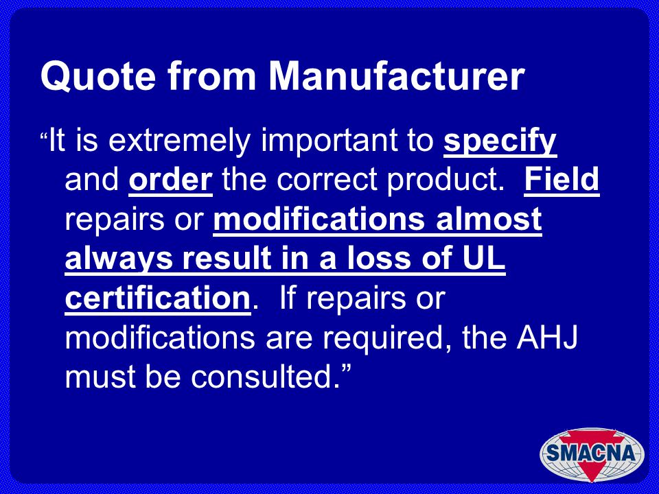 Quote from Manufacturer