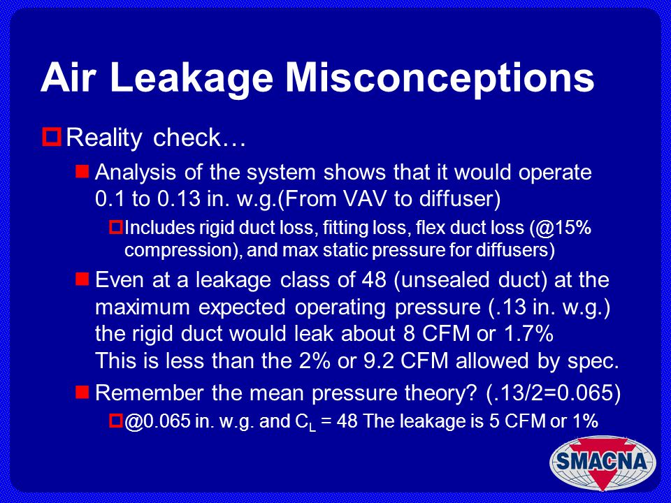 Air Leakage Misconceptions