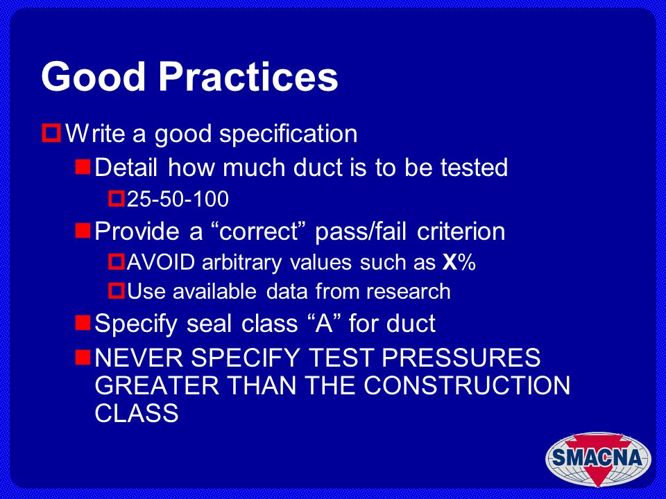 Good Practices Write a good specification