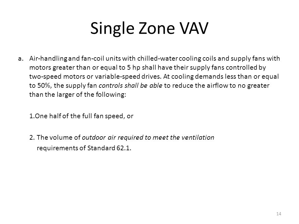 Single Zone VAV