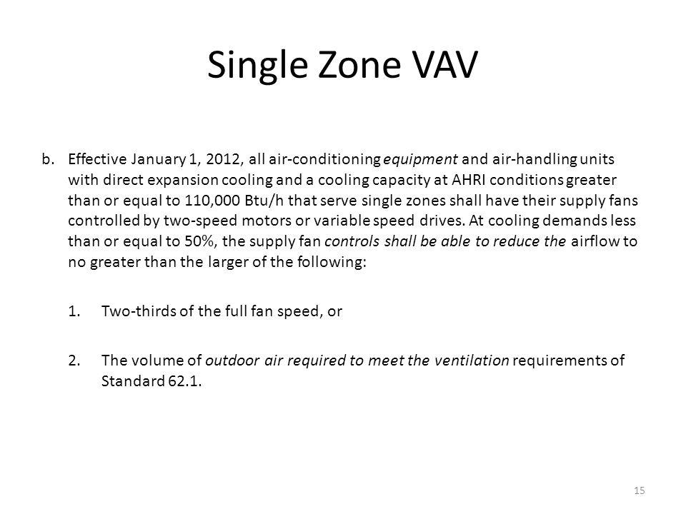 Single Zone VAV