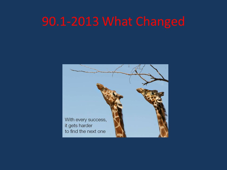 90.1-2013 What Changed