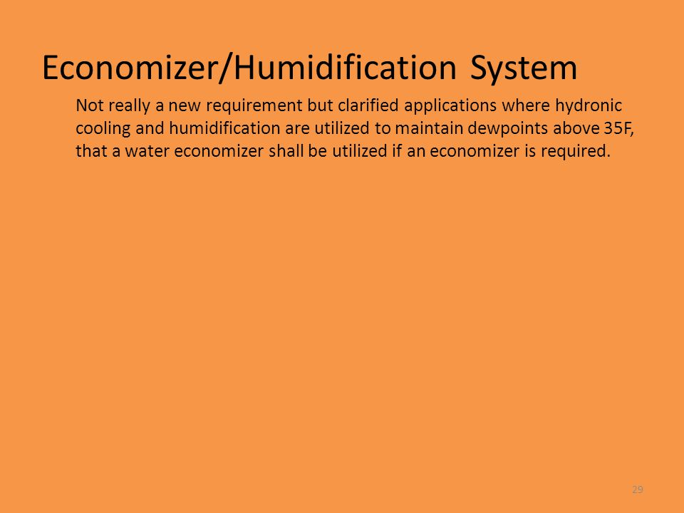 Economizer/Humidification System