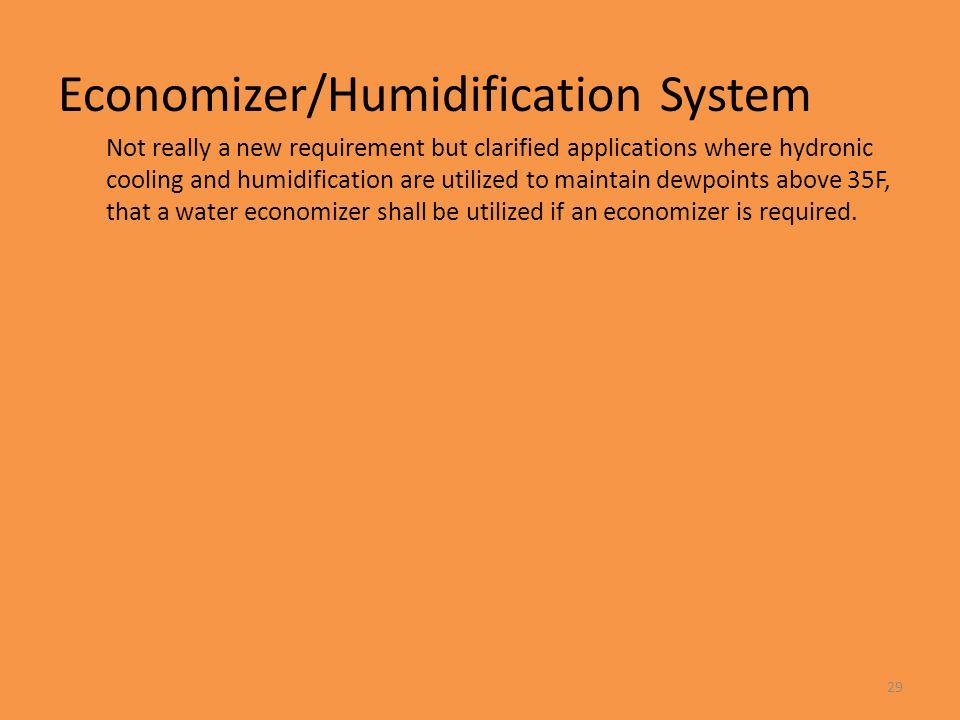 Economizer/Humidification System