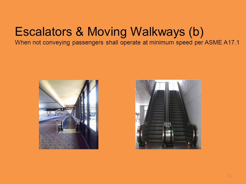 Escalators & Moving Walkways (b)
