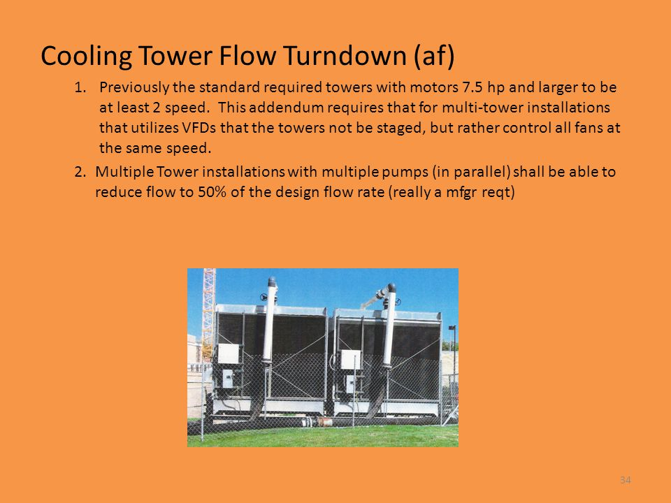 Cooling Tower Flow Turndown (af)