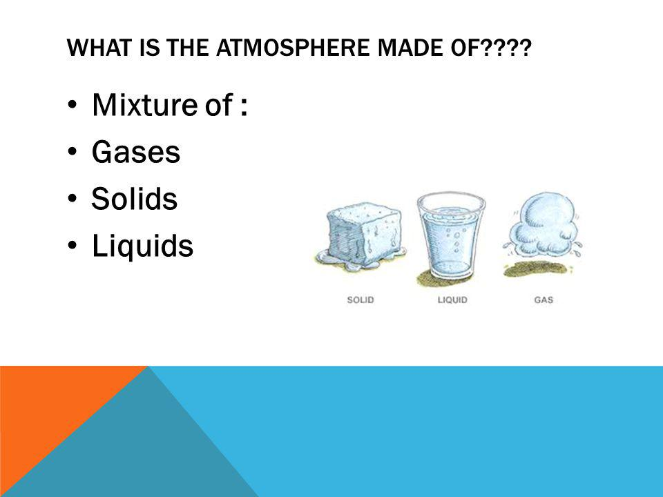 What is the Atmosphere made of