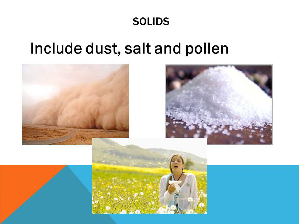 Include dust, salt and pollen