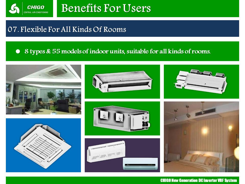 Benefits For Users 07. Flexible For All Kinds Of Rooms