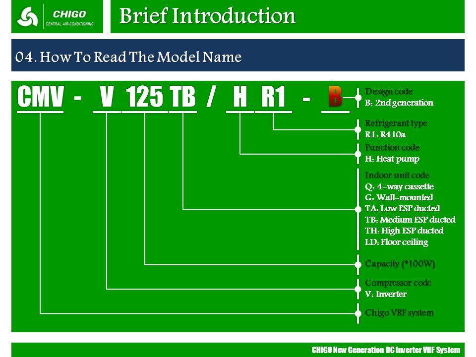 CMV - V 125 TB / H R1 B Brief Introduction