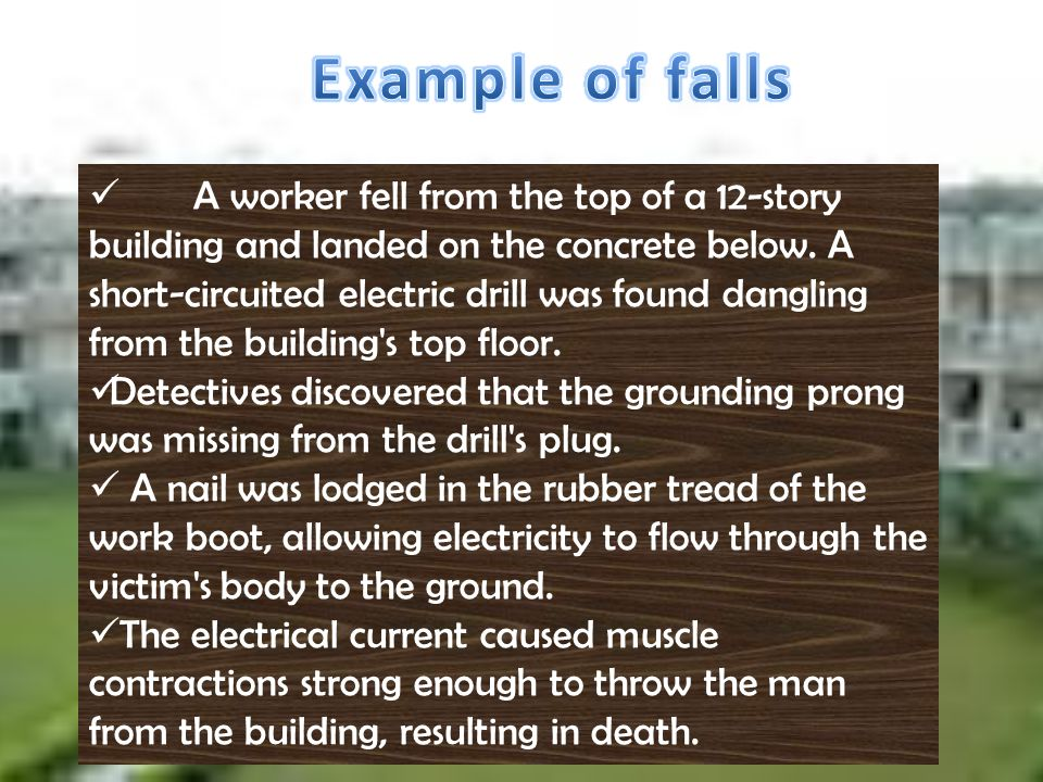Example of falls