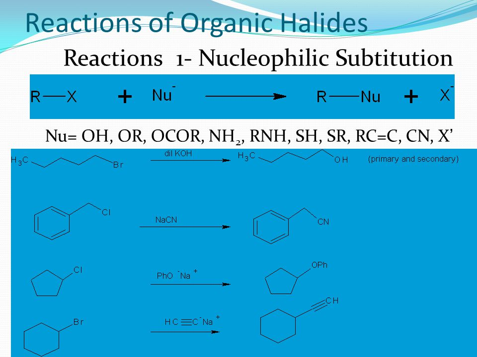 Reactions of Organic Halides