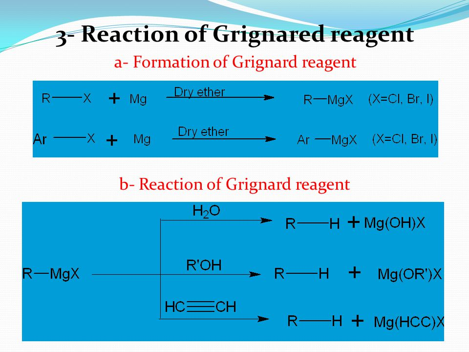 3- Reaction of Grignared reagent