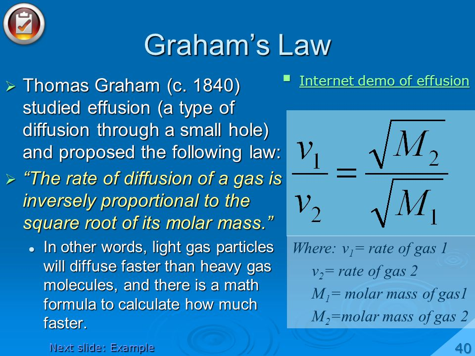 Graham's Law Internet demo of effusion