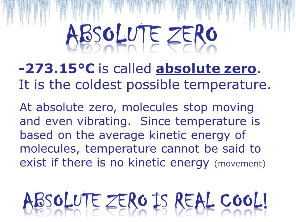 Absolute Zero is Real Cool!