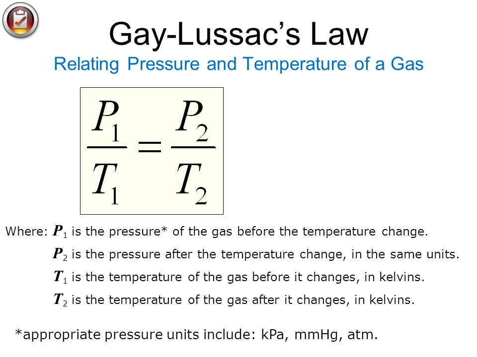 Gay-Lussac's Law Relating Pressure and Temperature of a Gas
