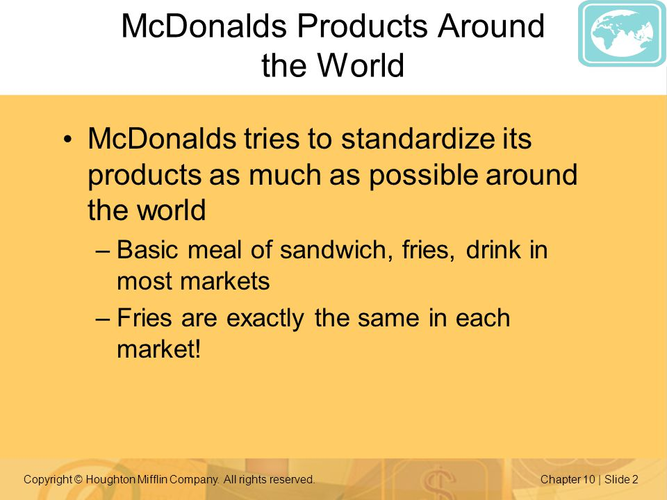 McDonalds Products Around the World