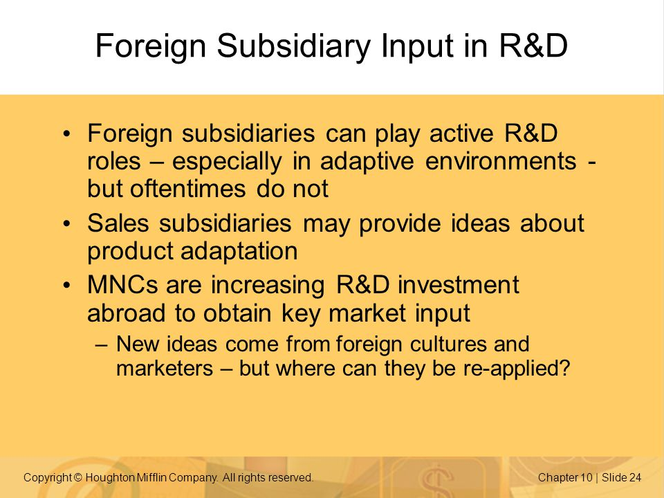 Foreign Subsidiary Input in R&D