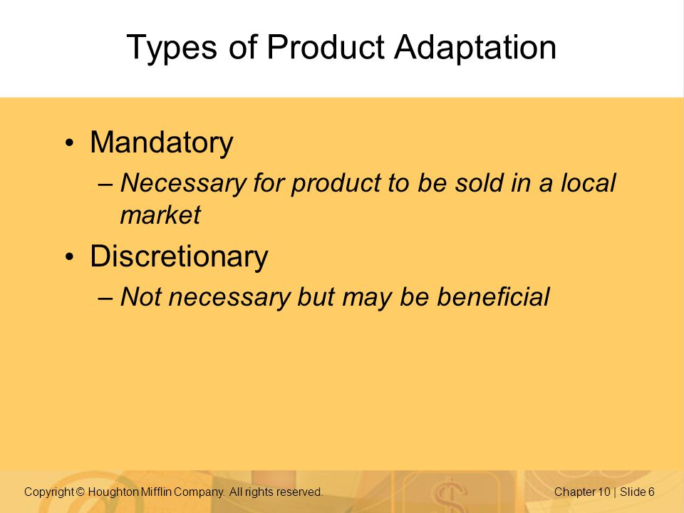 Types of Product Adaptation