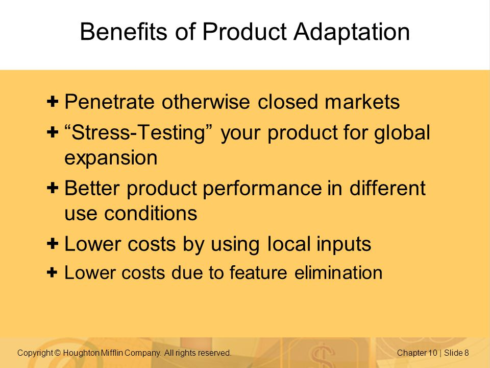 Benefits of Product Adaptation