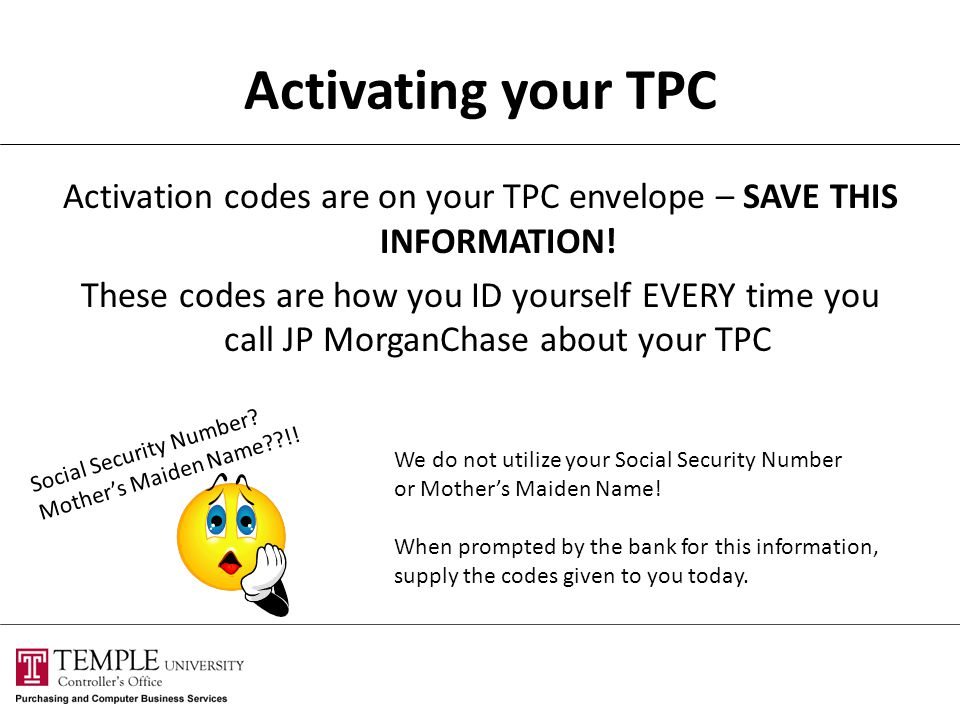 Activating your TPC