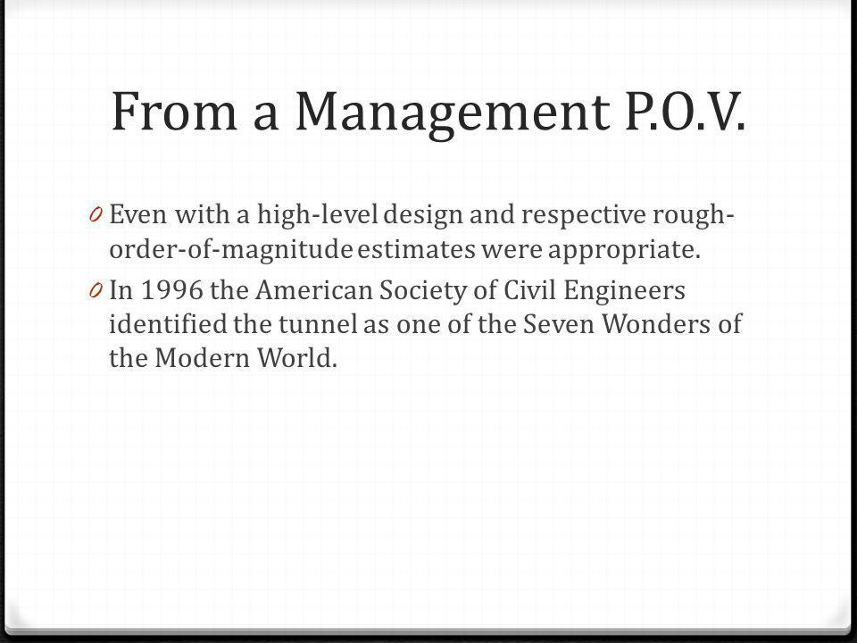 From a Management P.O.V. Even with a high-level design and respective rough-order-of-magnitude estimates were appropriate.