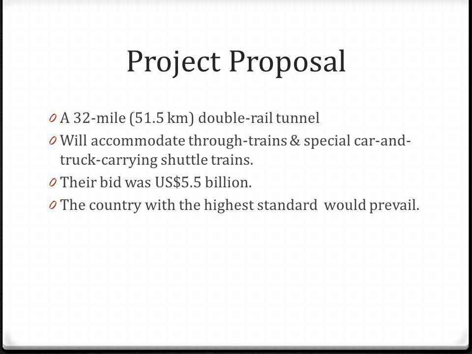 Project Proposal A 32-mile (51.5 km) double-rail tunnel