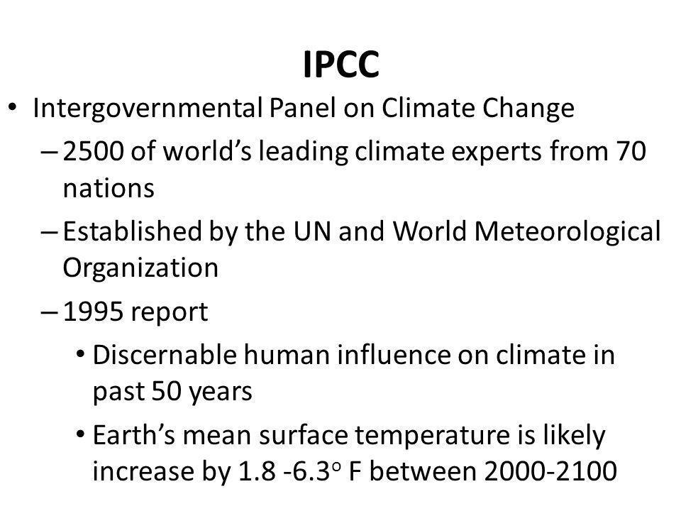 IPCC Intergovernmental Panel on Climate Change
