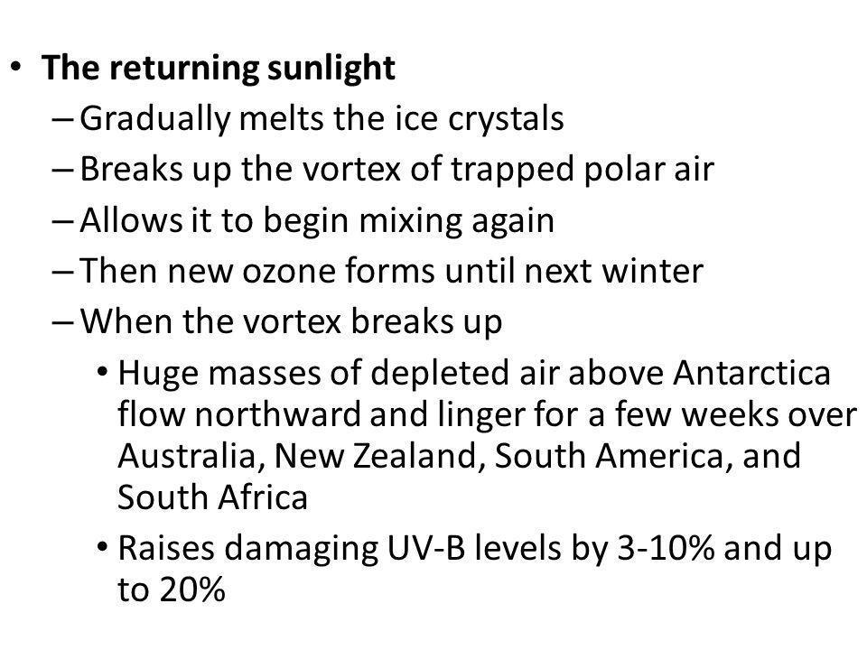 The returning sunlight