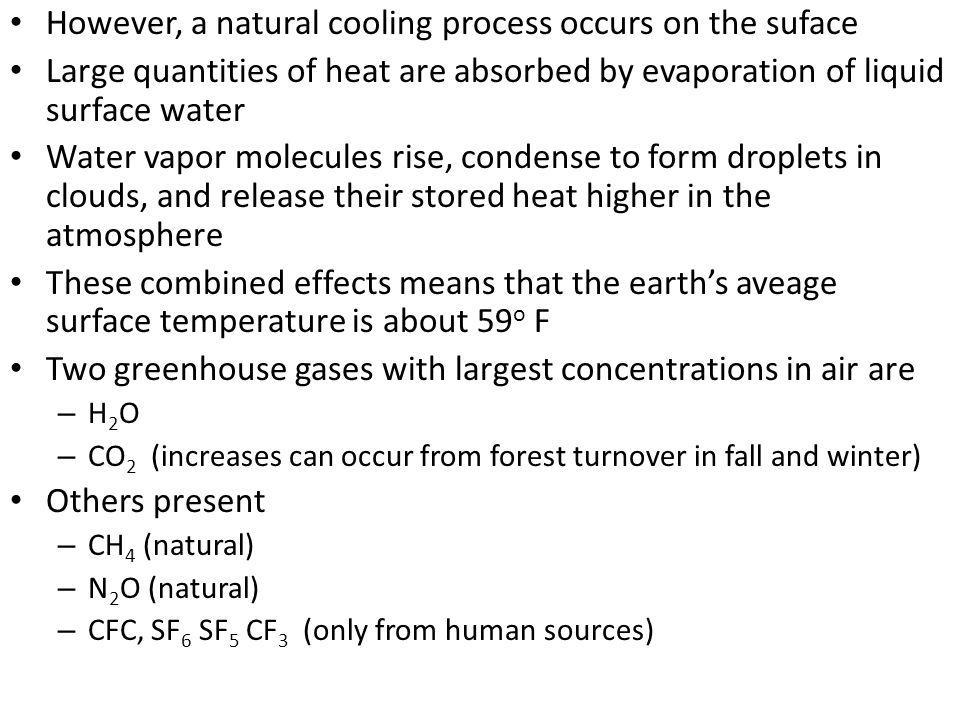 However, a natural cooling process occurs on the suface