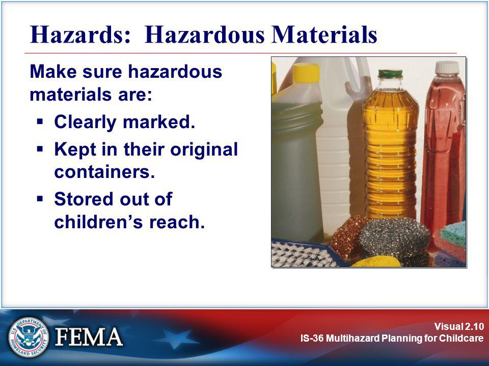 Hazards: Hazardous Materials