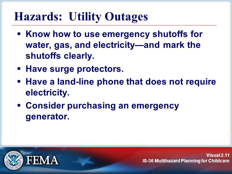 Hazards: Utility Outages