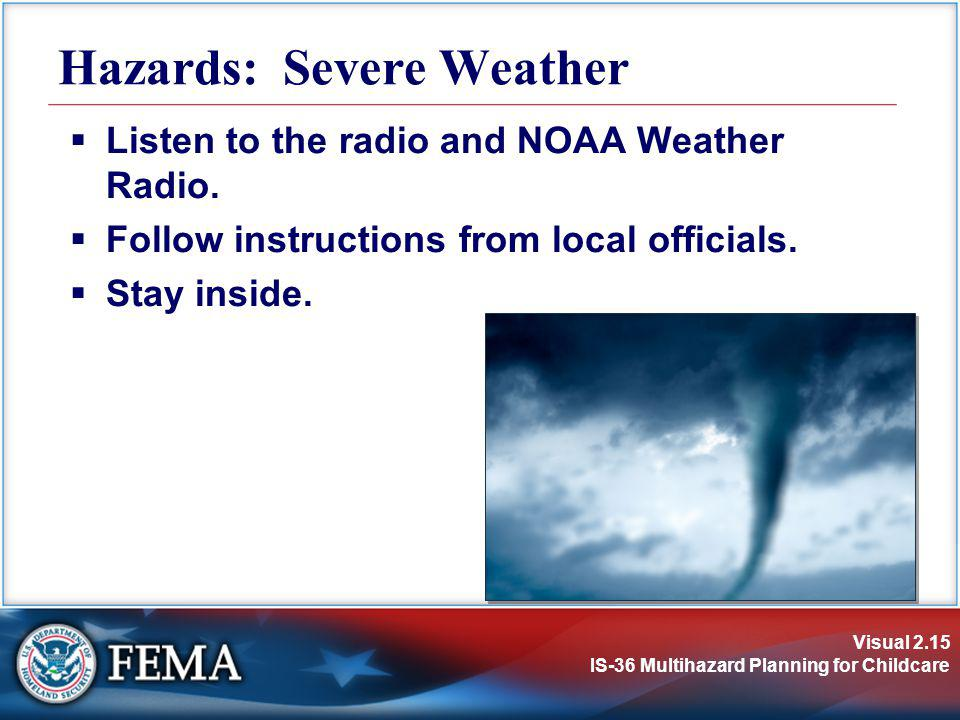 Hazards: Severe Weather