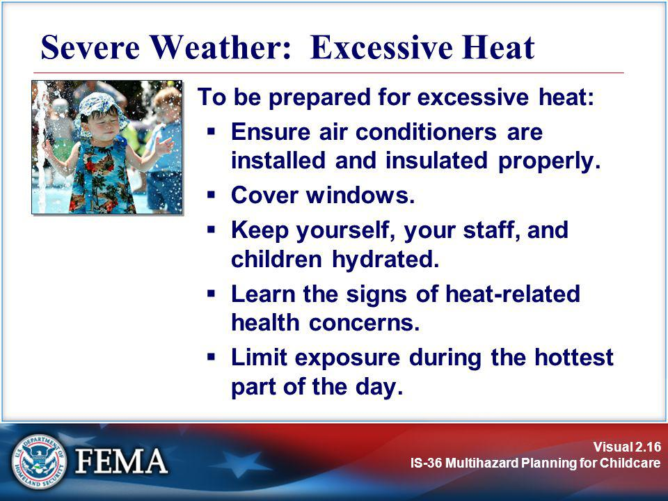 Severe Weather: Excessive Heat