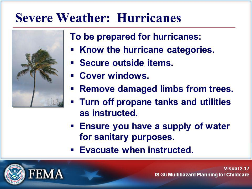 Severe Weather: Hurricanes